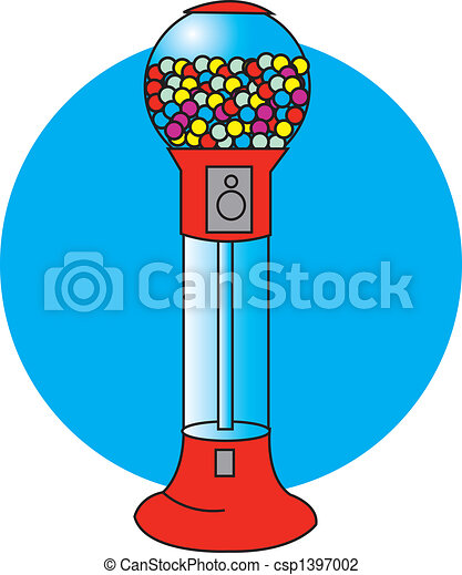 bubble gum or gumball machine clip art vector illustration search rh canstockphoto com Bubble Gum Graph machine a bubble gum clipart
