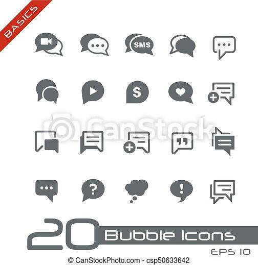 Bubble Icons // Basics - csp50633642