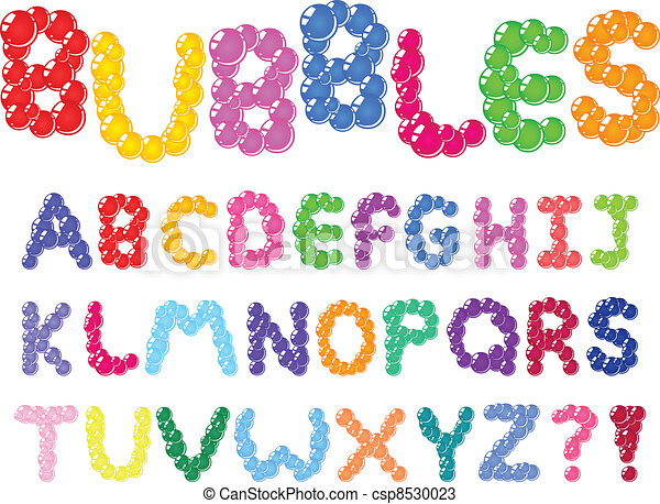 Bubbles alphabet - csp8530023