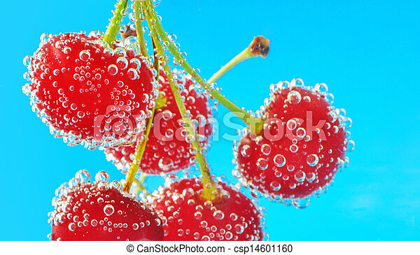 bubbles and cherry - csp14601160