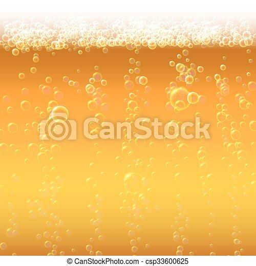bubbles., birra, schiuma, fondo - csp33600625