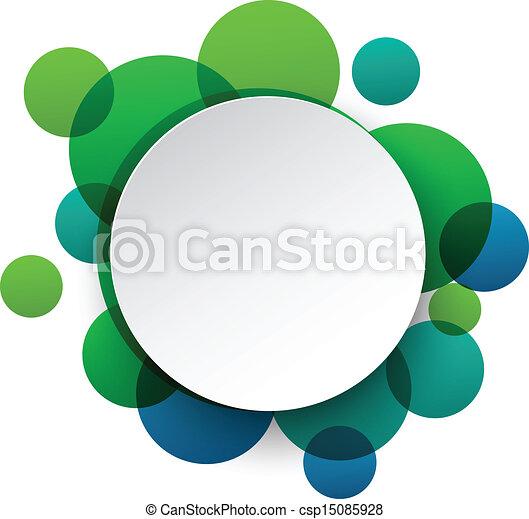 bubbles., blanco, papel, discurso, redondo - csp15085928