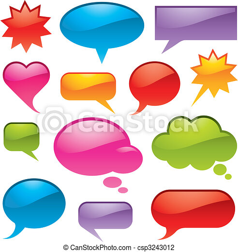 Bubbles in various shapes and colors - csp3243012