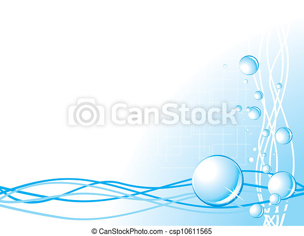 Bubbles on the abstract background - csp10611565