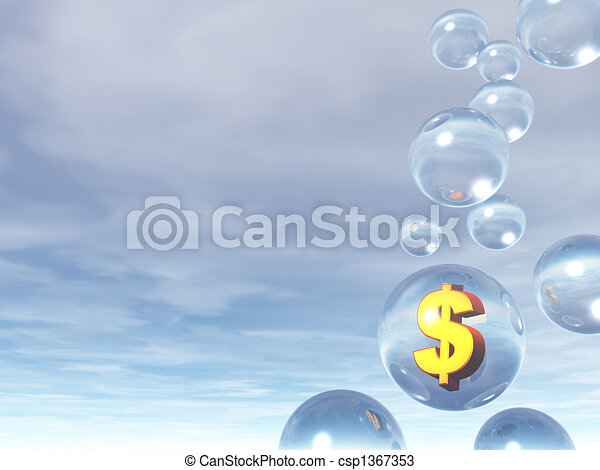 bubles and dollar sign - csp1367353