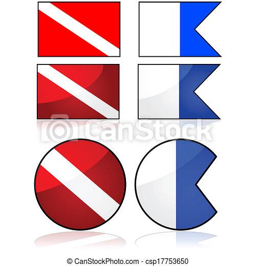 Bandera de buceo - csp17753650