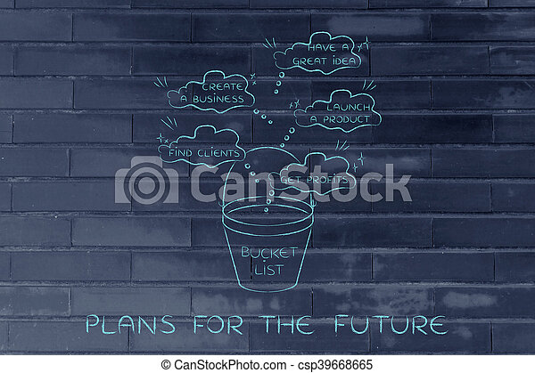 Bucket List With Innovative Business Success Thought  Stock Image