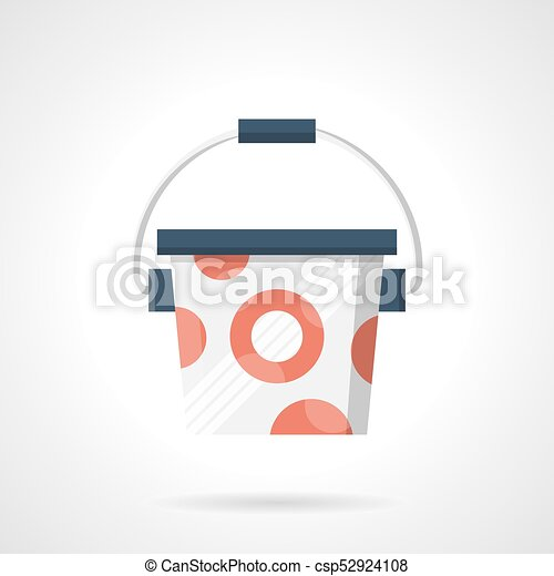 Bucket Of Protein Powder Flat Color Vector Icon Symbol For