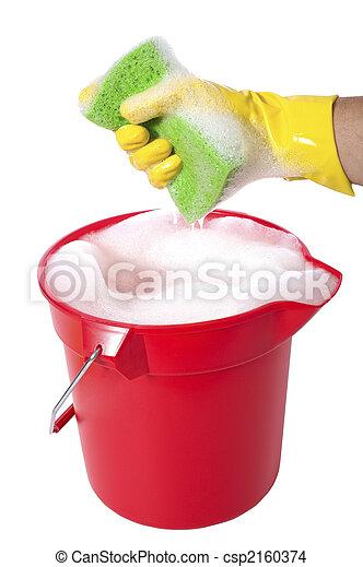 Bucket of Soap - csp2160374