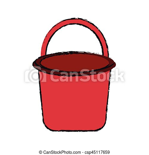 bucket with handle icon image - csp45117659