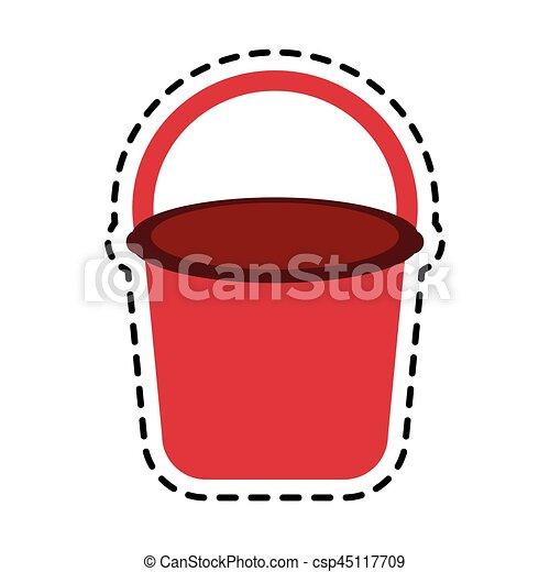 bucket with handle icon image - csp45117709