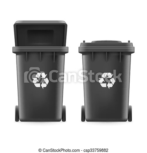 Buckets for trash - csp33759882