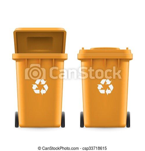 Buckets for trash - csp33718615