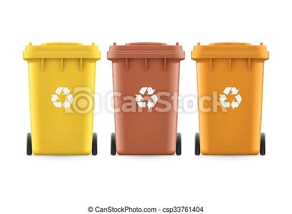Buckets for trash - csp33761404