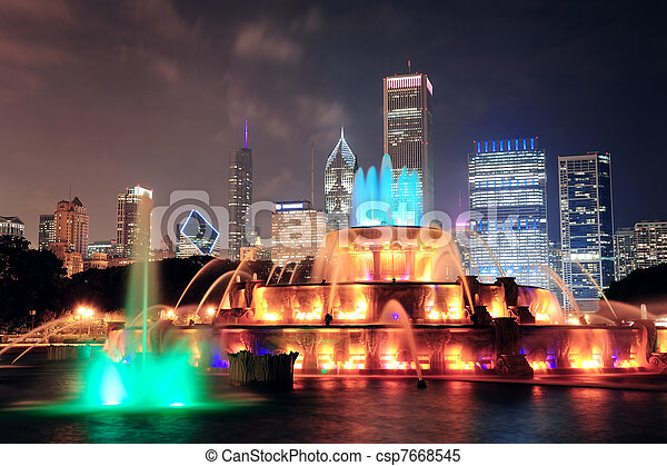 buckingham fontein, chicago - csp7668545