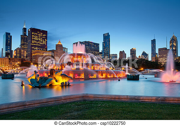 buckingham, fountain. - csp10222750