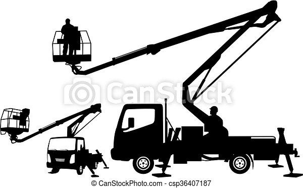 buckrt truck silhouettes - csp36407187
