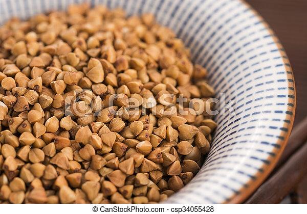 buckwheat groats - csp34055428