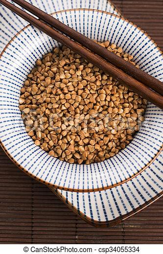 buckwheat groats - csp34055334