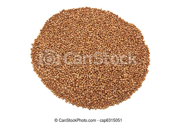 Buckwheat isolated on a white - csp6315051