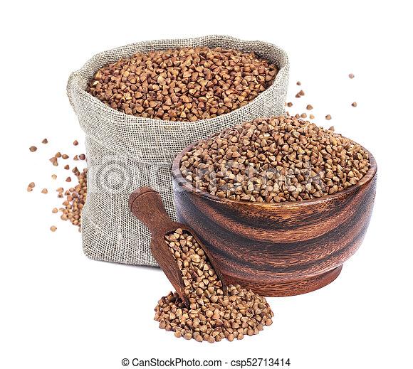 Buckwheat isolated on white background - csp52713414