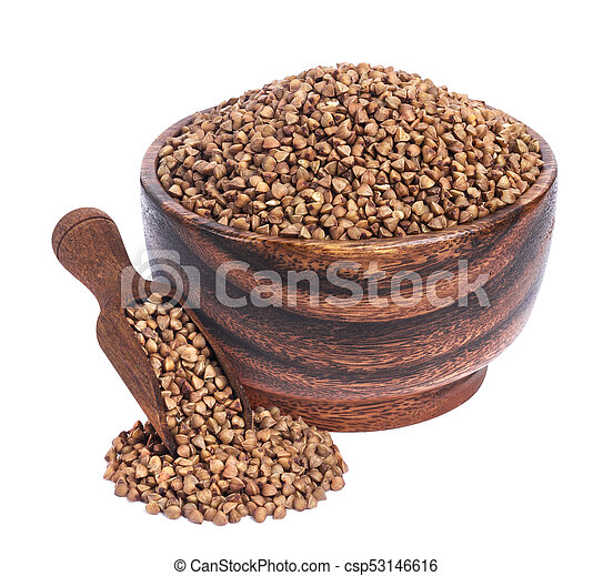 Buckwheat isolated on white background - csp53146616