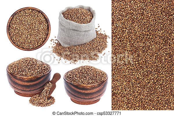 Buckwheat isolated on white background - csp53327771