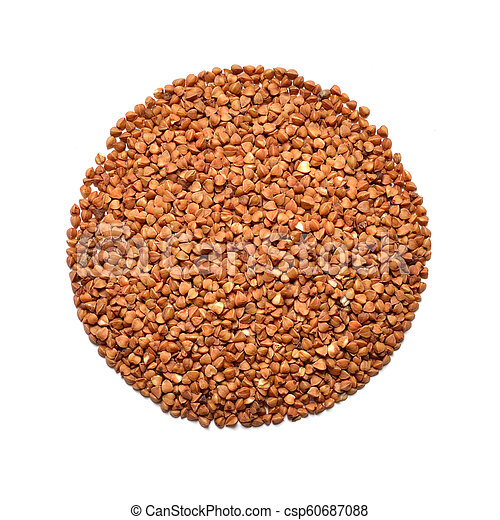 Buckwheat isolated on white background. Top view - csp60687088