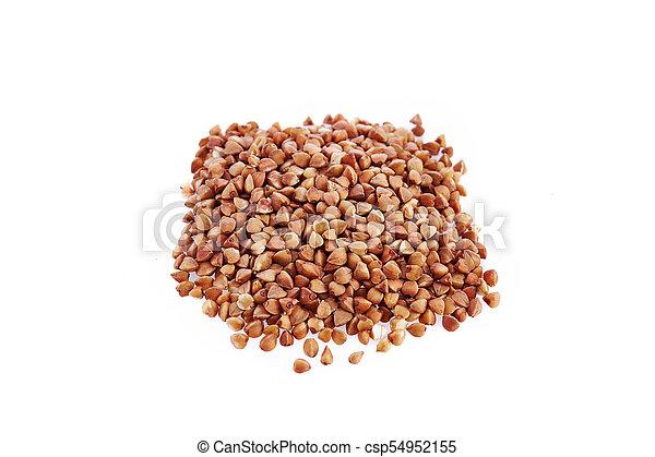 buckwheat isolated on white background - csp54952155
