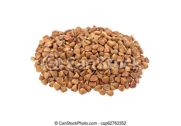 buckwheat isolated on white background - csp62763352