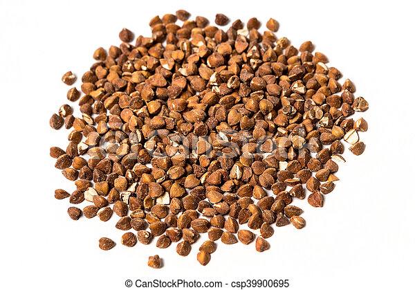 Buckwheat isolated on white background - csp39900695