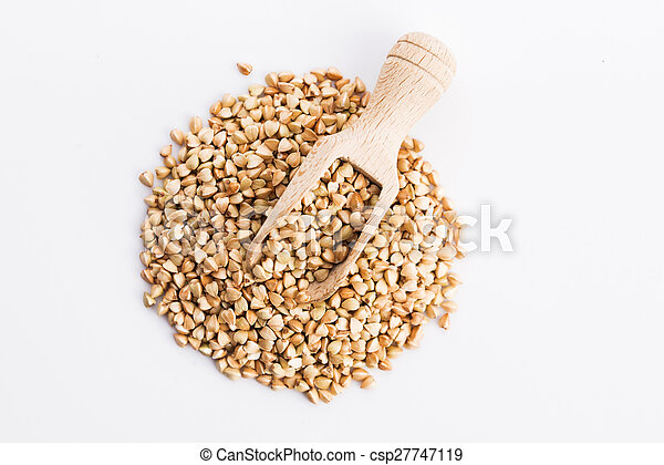 Buckwheat on a white background - csp27747119