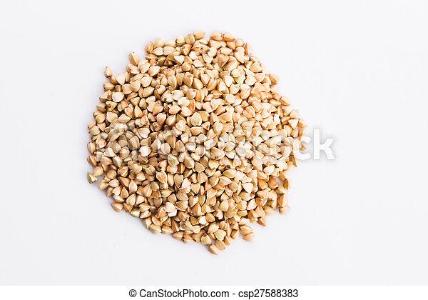 Buckwheat on a white background - csp27588383