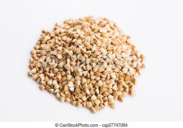 Buckwheat on a white background - csp27747084