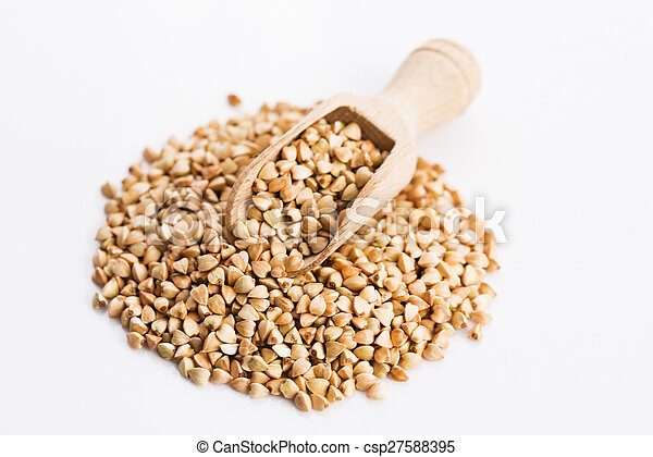 Buckwheat on a white background - csp27588395