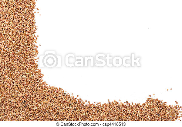 Buckwheat on a white background - csp4418513
