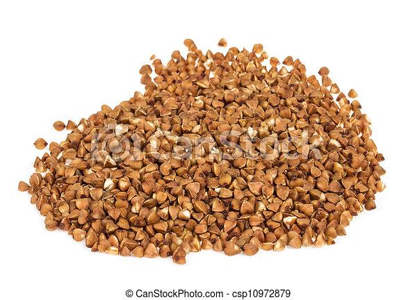 buckwheat on white background - csp10972879