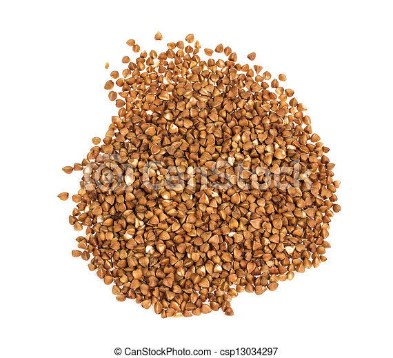 buckwheat on white background - csp13034297