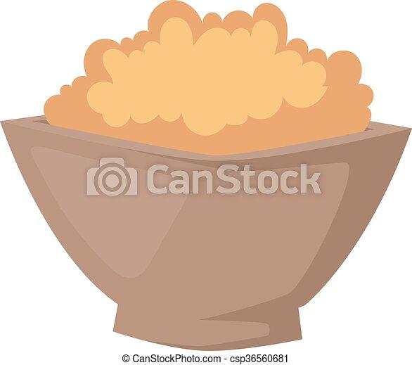Buckwheat plate vector illustration. - csp36560681