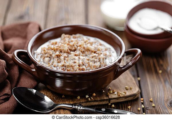 buckwheat porridge - csp36016628