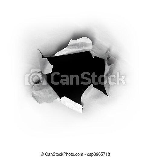 buco, carta - csp3965718