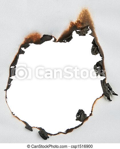 buco, carta, bruciato - csp1516900