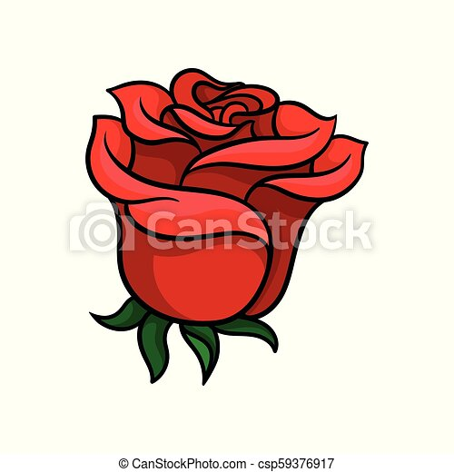 Bud Of Bloody Red Rose Gorgeous Garden Flower Tattoo Artwork Nature Theme Vector For Poster Greeting Card Or Wedding Invitation