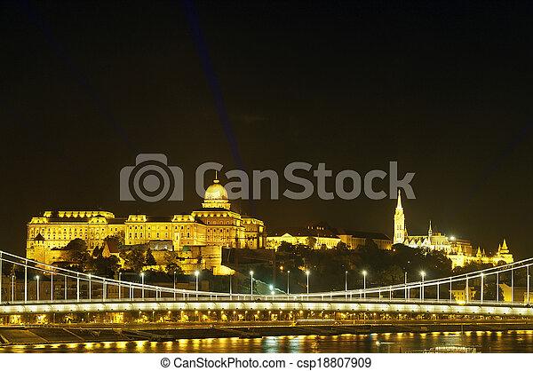 Buda Castle and Fisherman Bastion - csp18807909