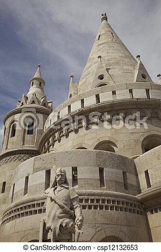 Buda Castle - Fisherman Bastion - csp12132653