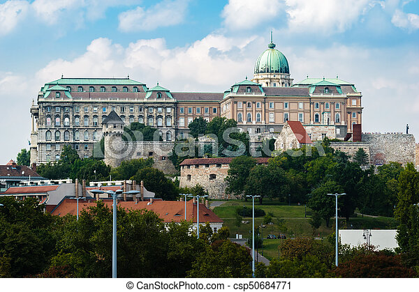 Buda Castle in Budapest, Hungary - csp50684771