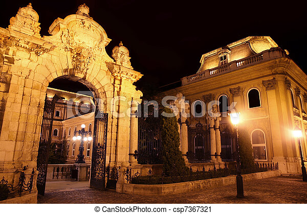 Buda Castle in Budapest, Hungary - csp7367321