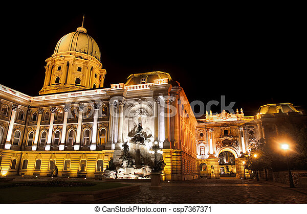 Buda Castle in Budapest, Hungary - csp7367371