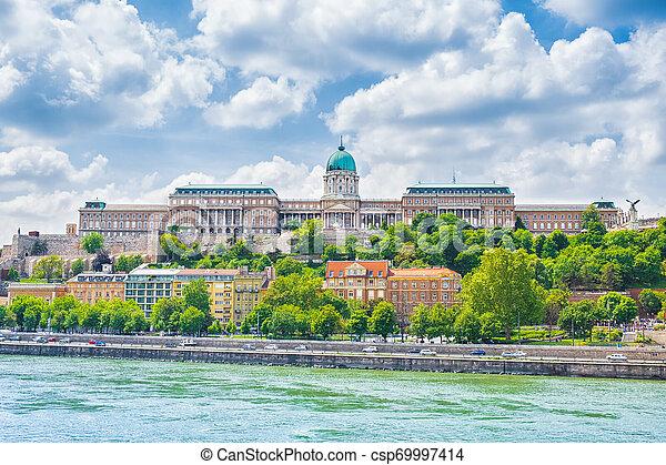 Buda Castle (Royal Palace) in Budapest, Hungary. - csp69997414
