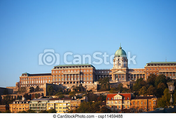 Buda Royal castle in Budapest, Hungary - csp11459488